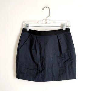 Elizabeth and James | Navy Pleated Mini Skirt